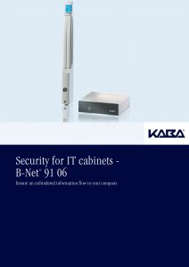 Security for IT cabinets - B-Net® 91 06