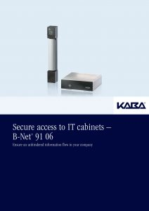 Secure access to IT cabinets – B-Net® 91 06