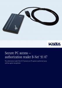 Secure PC access – authorization reader B-Net® 91 07