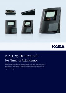 B-Net® 93 40 Terminal – for Time & Attendance