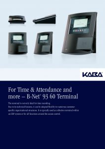 For Time & Attendance and more – B-Net® 93 60 Terminal