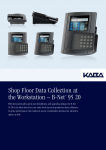 Shop Floor Data Collection at the Workstation – B-Net® 95 20