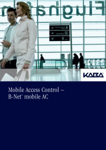 Mobile Access Control – B-Net® mobile AC