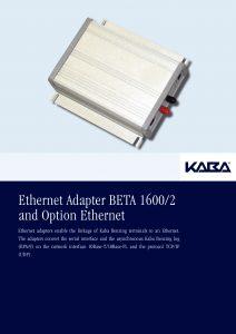Ethernet Adapter BETA 1600/2 and Option Ethernet
