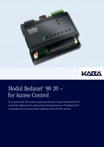 Modul Bedanet® 90 20 – for Access Control