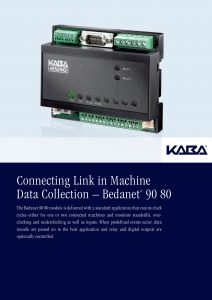 Connecting Link in Machine Data Collection – Bedanet® 90 80