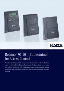 Bedanet® 91 20 – Subterminal for Access Control