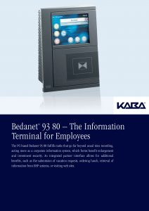 Bedanet® 93 80 – The Information Terminal for Employees